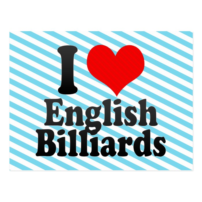I love English Billiards Postcard