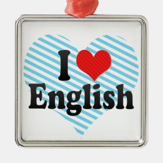I Love English Christmas Ornament