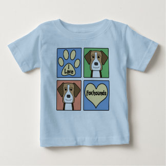 I Love English Foxhounds Baby T-Shirt