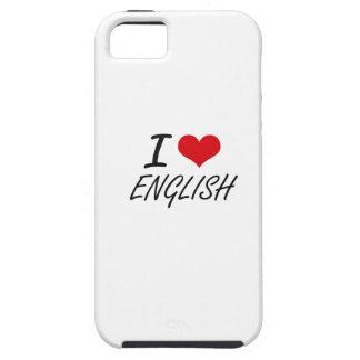 I love ENGLISH iPhone 5 Covers