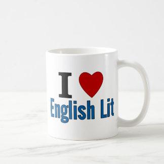 I Love English Lit Basic White Mug