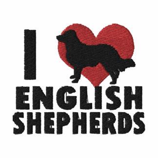 I Love English Shepherds Embroidered Shirt TShirt