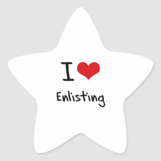 I love Enlisting Star Stickers