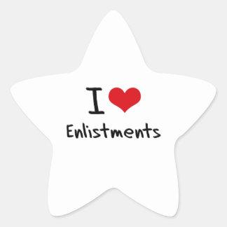 I love Enlistments Sticker