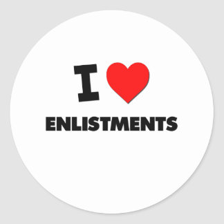 I love Enlistments Round Stickers
