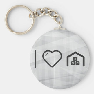 I Love Entertainment Knowledges Basic Round Button Key Ring
