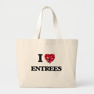 I love ENTREES Jumbo Tote Bag