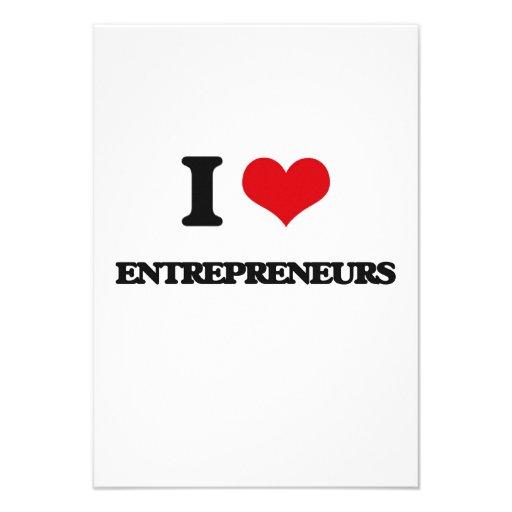 I love Entrepreneurs Custom Announcement