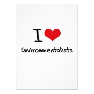 I love Environmentalists Custom Invitation