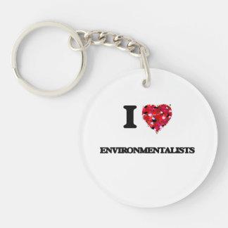 I love ENVIRONMENTALISTS Single-Sided Round Acrylic Key Ring
