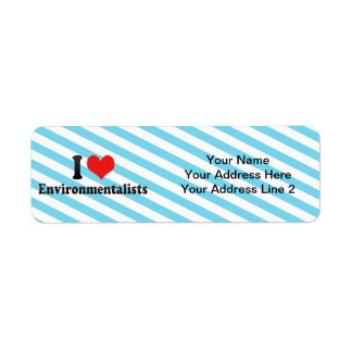 I Love Environmentalists Return Address Label