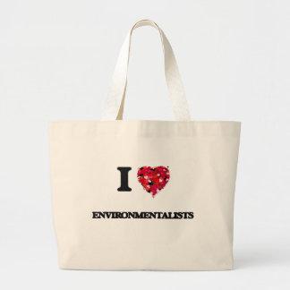 I love ENVIRONMENTALISTS Jumbo Tote Bag