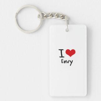 I love Envy Double-Sided Rectangular Acrylic Key Ring