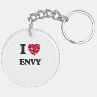 I love ENVY Double-Sided Round Acrylic Key Ring