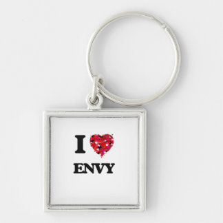 I love ENVY Silver-Colored Square Key Ring