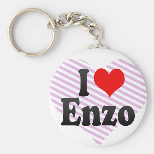 I love Enzo Basic Round Button Key Ring