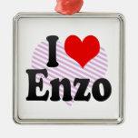 I love Enzo Christmas Ornament
