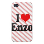 I love Enzo Cover For iPhone 4