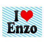 I love Enzo Postcard