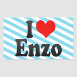 I love Enzo Rectangular Stickers