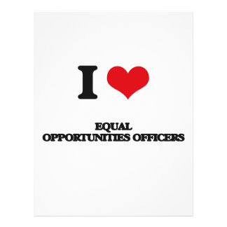 I love Equal Opportunities Officers Flyer Design