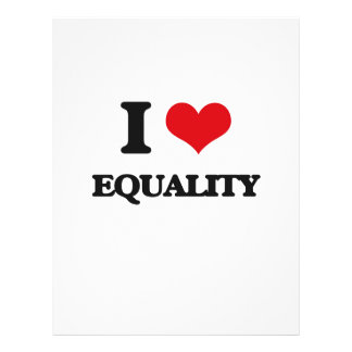 I love EQUALITY 21.5 Cm X 28 Cm Flyer