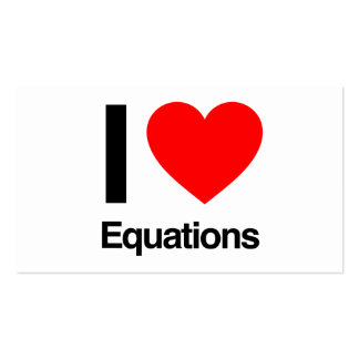 i love equations pack of standard business cards