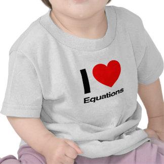 i love equations t shirt