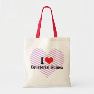 I Love Equatorial Guinea Budget Tote Bag