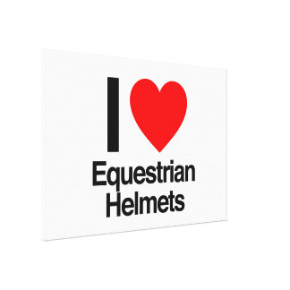 i love equestrian helmets gallery wrap canvas