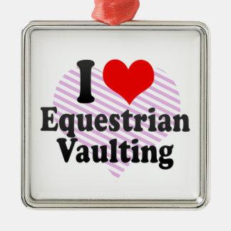 I love Equestrian Vaulting Christmas Ornament