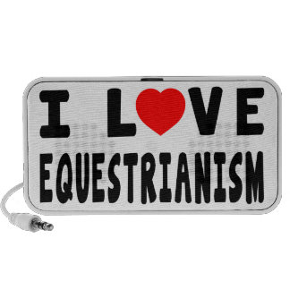 I Love Equestrianism Travel Speakers