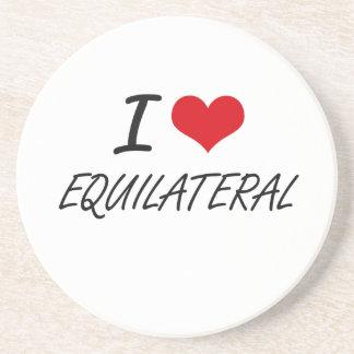I love EQUILATERAL Sandstone Coaster