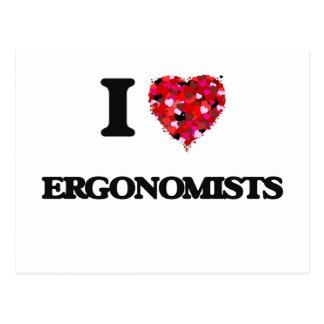 I love Ergonomists Postcard