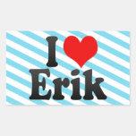 I love Erik Rectangle Stickers