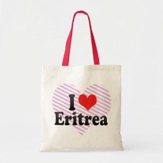 I Love Eritrea Canvas Bags