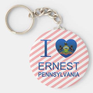 I Love Ernest PA Keychains