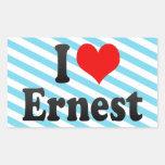 I love Ernest Rectangle Sticker