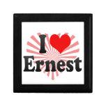 I love Ernest Trinket Box
