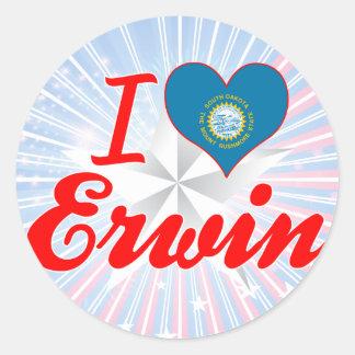 I Love Erwin, South Dakota Sticker