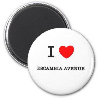 I Love Escambia Avenue Alabama Refrigerator Magnet