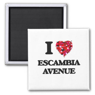 I love Escambia Avenue Alabama Square Magnet