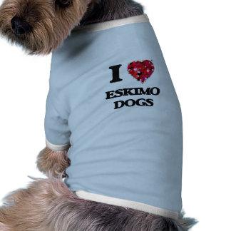 I love Eskimo Dogs Doggie Tee Shirt