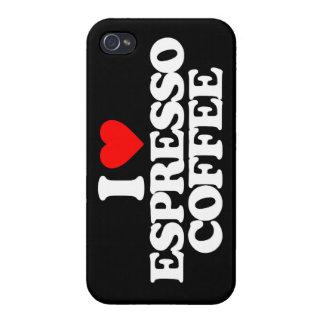 I LOVE ESPRESSO COFFEE CASE FOR iPhone 4