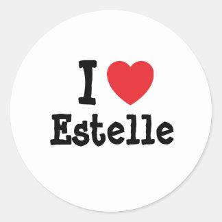 I love Estelle heart T-Shirt Round Sticker