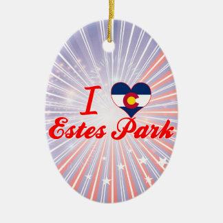 I Love Estes Park, Colorado Christmas Tree Ornaments