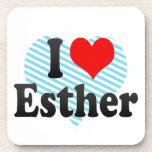 I love Esther Drink Coaster