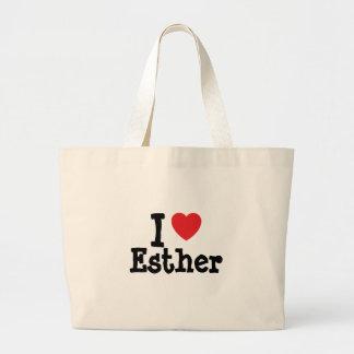 I love Esther heart T-Shirt Canvas Bag