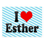 I love Esther Post Card