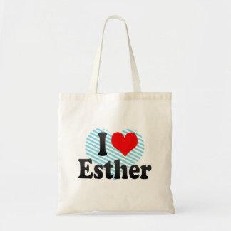 I love Esther Budget Tote Bag